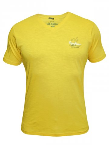 Pepe Jeans Gold V Neck T Shirt at cilory