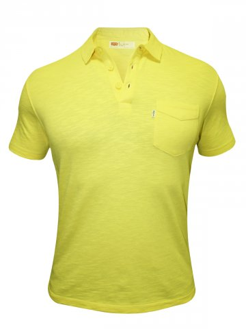 Levis Yellow Polo T Shirt at cilory