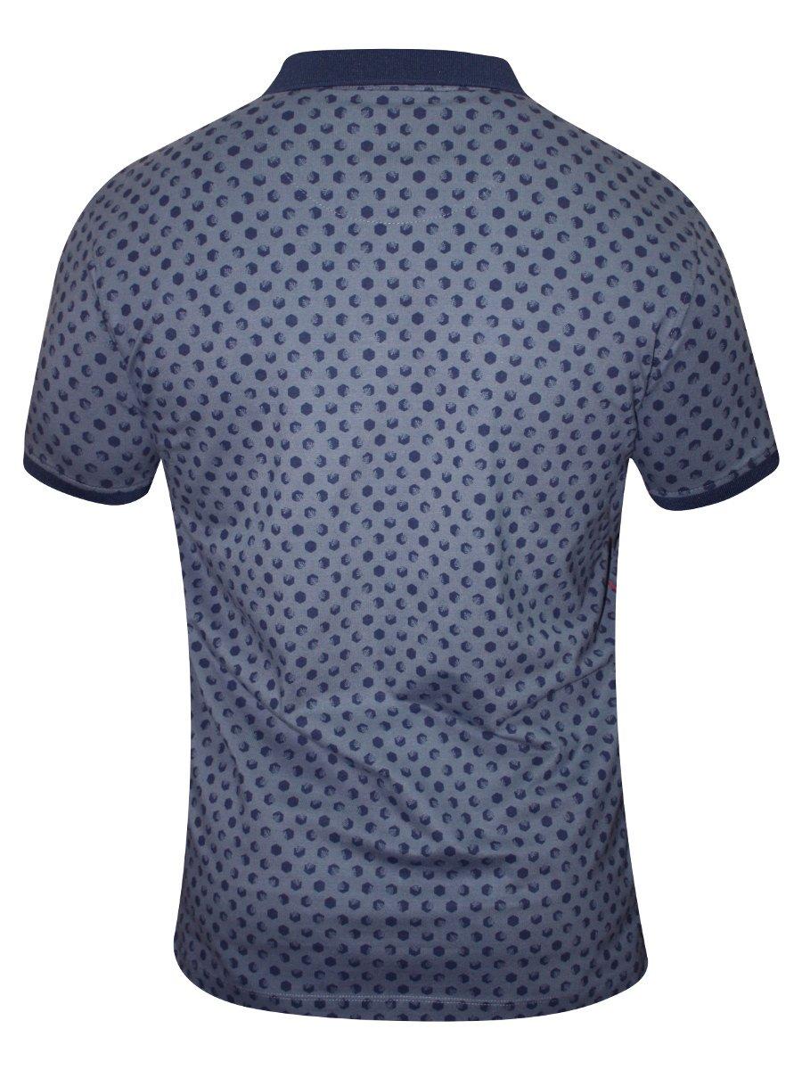 Spykar blue printed polo t shirt rts s16 72 grey for Polo t shirt printing