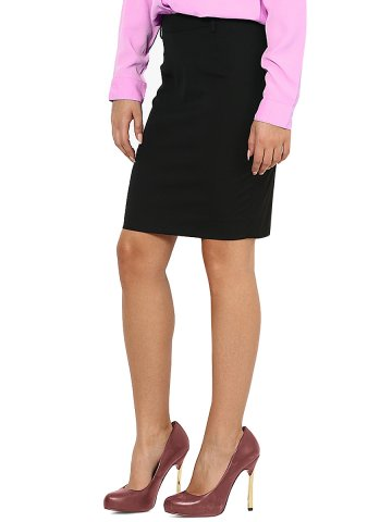 Arrow Women Black Formal Skirt at cilory