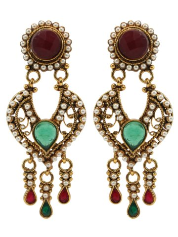 https://static.cilory.com/177494-thickbox_default/antique-finish-classic-motiwork-earrings-in-red-and-green.jpg