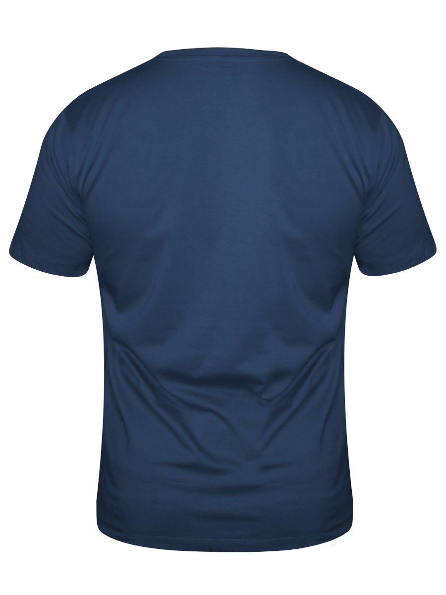 Buy t shirts online victor rolf navy blue round neck t for Navy blue shirt online