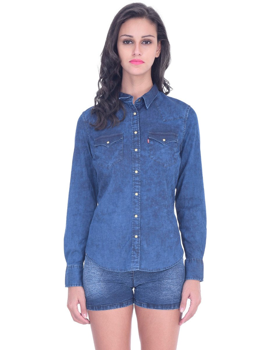 Wrangler Women's Western Denim Shirt. by Wrangler. $ - $ $ 25 $ 49 90 Prime. FREE Shipping on eligible orders. Some sizes/colors are Prime eligible. out of 5 stars