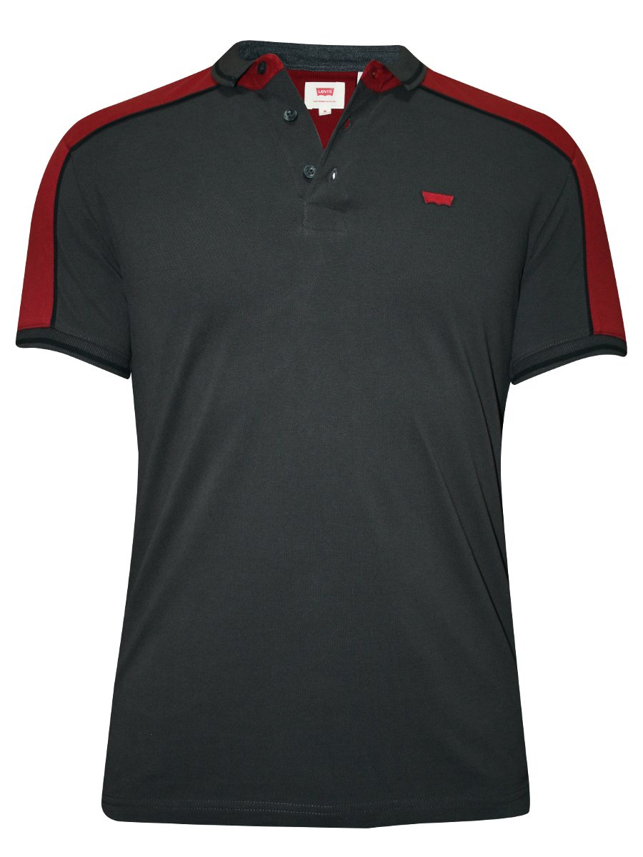 Buy T Shirts Online Levis Dark Grey Polo T Shirt 28738