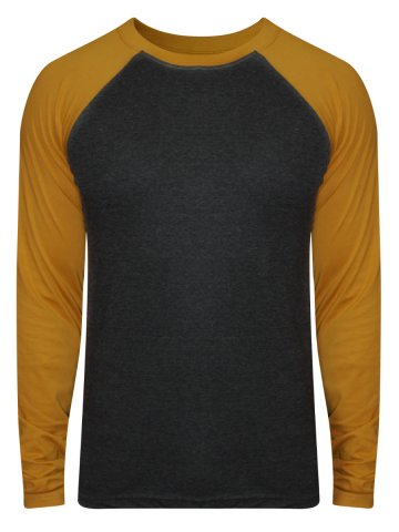 https://static1.cilory.com/206695-thickbox_default/no-logo-charcoal-mustard-raglan-sleeves-t-shirt.jpg