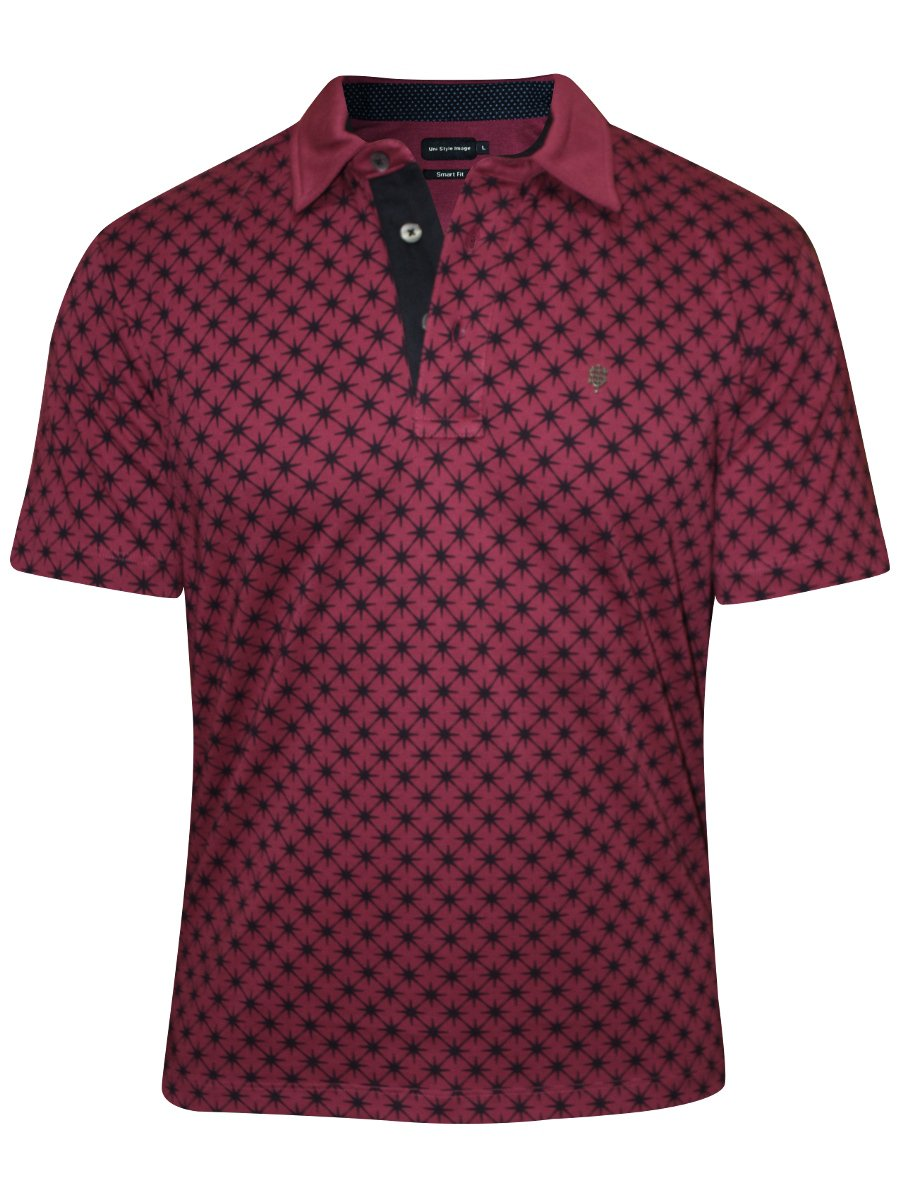 Uni style images plum printed polo t shirt inter webstar for Polo t shirt printing