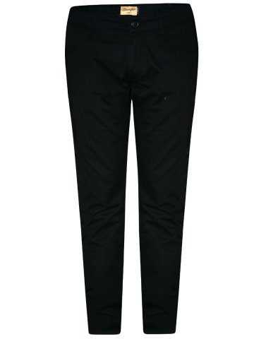 Wrangler Black Mens Stretch Chinos at cilory