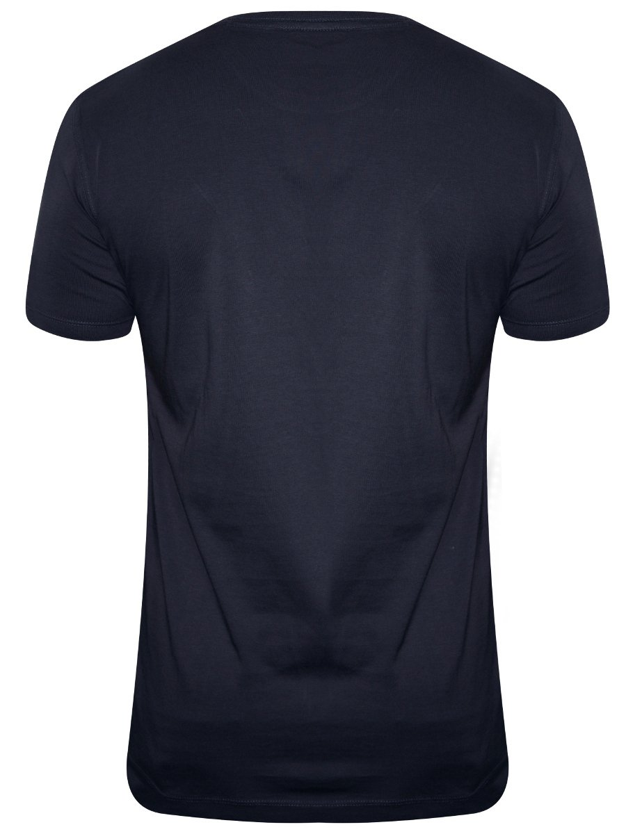 Buy t shirts online lee navy blue men 39 s round neck t for Navy blue shirt online
