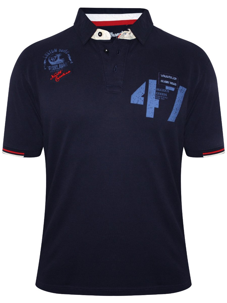 Buy T Shirts Online Wrangler Navy Polo T Shirt