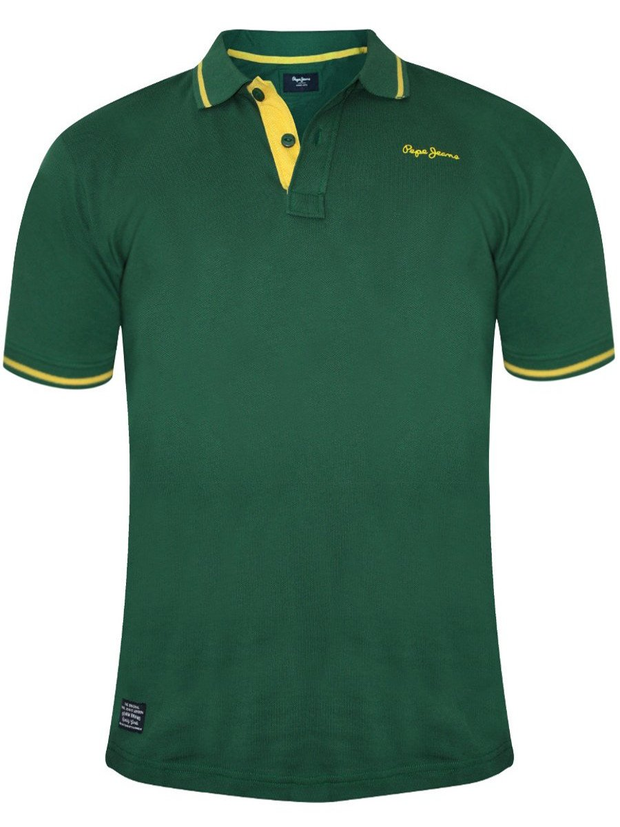 buy t shirts online pepe jeans green polo t shirt. Black Bedroom Furniture Sets. Home Design Ideas