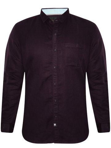 Numero Uno Pure Cotton Purple Cotton Linen Shirt at cilory
