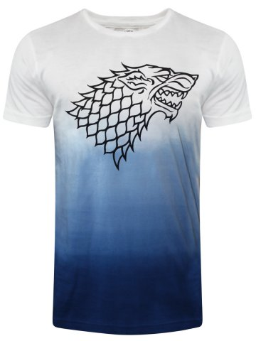Game Of Thrones White & Blue Round Neck T-Shirt at cilory