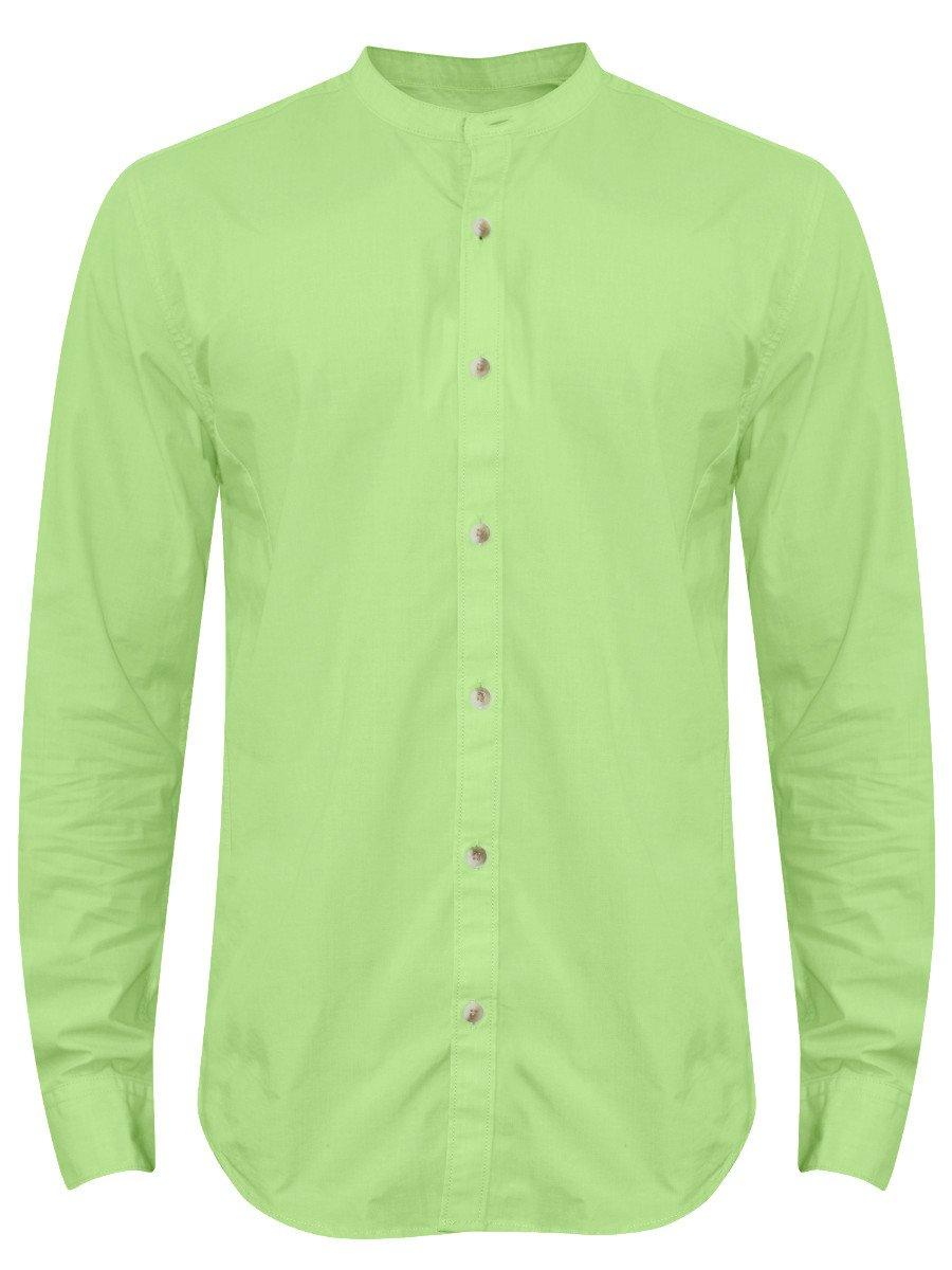 Peter England Pure Cotton Light Green Shirt Esf31702818