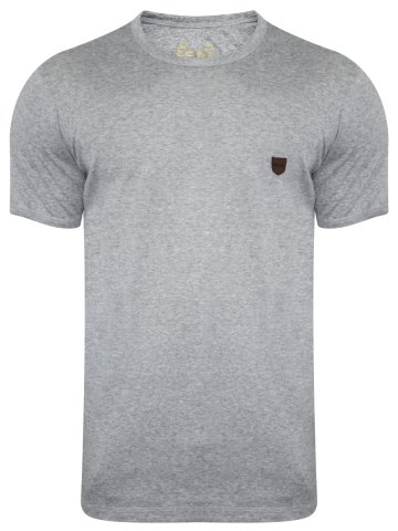 Monte Carlo C&D Grey Melange Round Neck T-Shirt at cilory