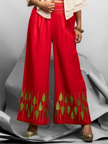 https://static7.cilory.com/257735-thickbox_default/exotic-series-red-cotton-linen-palazzo.jpg