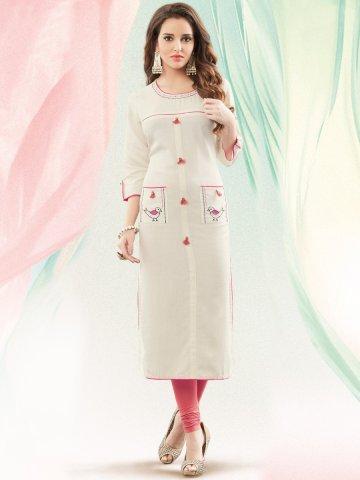 a1f2699d85e ... White Cotton Special Kurti.  https   static1.cilory.com 264026-thickbox default nitya-