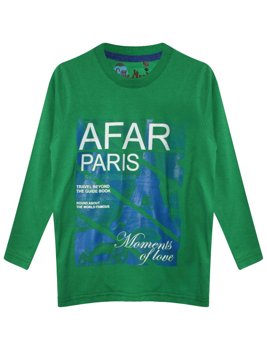 Little street green tee ls 193 afar paris green - Little green paris ...