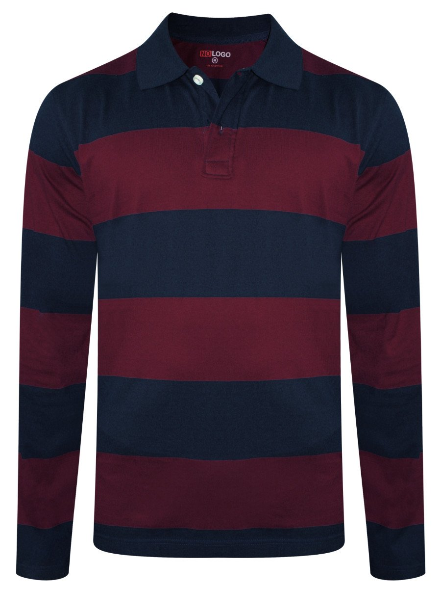 e6eac115e NOLOGO Navy & Maroon Full Sleeves Polo. Rs. 749. Quick Buy