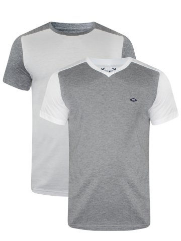 Monte Carlo C&D Grey & White T-Shirt (Pack of 2) at cilory