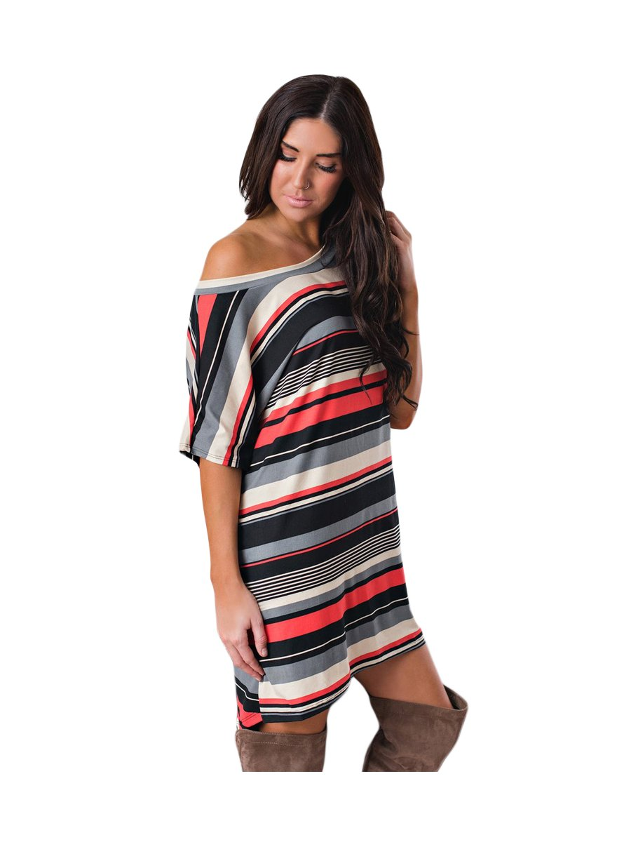 59b08f79cf1a >Red Black Multi-striped Casual T-Shirt Dress.  https://static3.cilory.com/342150-thickbox_default/red- View full size