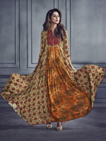 326d217c1b Sabhyata Multicolor Rayon Cotton Printed Kurti | Arihantnx-8001 ...