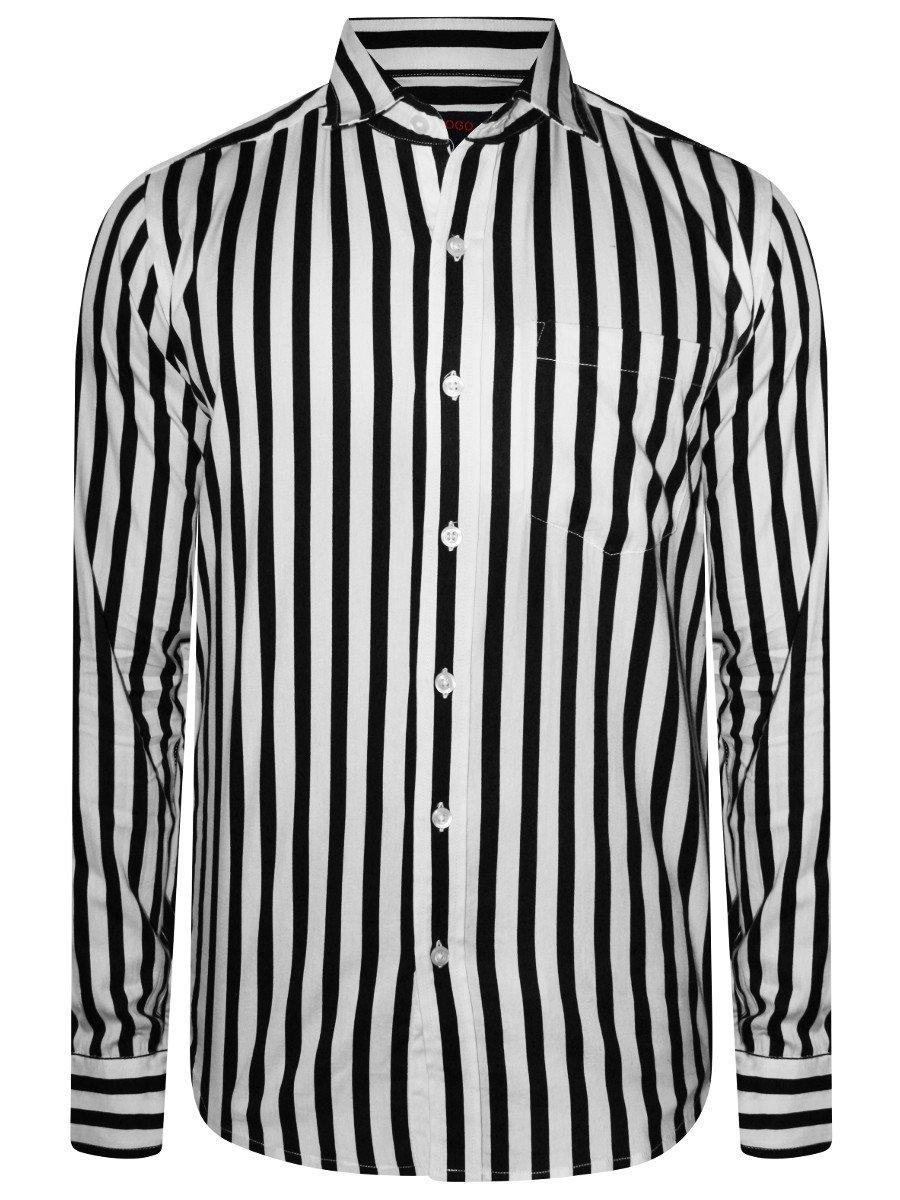64b24a33 Nologo Pure Cotton Black & White Shirt | Nologo-pgcs-591 | Cilory.com