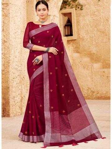 https://d38jde2cfwaolo.cloudfront.net/398422-thickbox_default/lt-fabrics-maroon-embroidered-saree.jpg