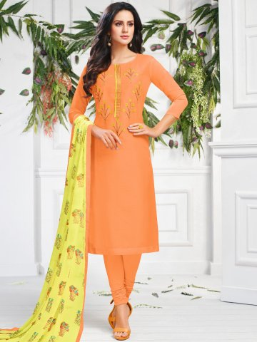 https://static3.cilory.com/407658-thickbox_default/orange-chanderi-cotton-semi-stitched-suit.jpg