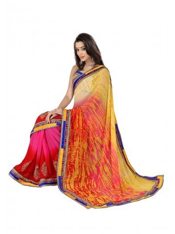 https://static6.cilory.com/87103-thickbox_default/fabdeal-georgette-embroidered-red-yellow-pink-saree.jpg