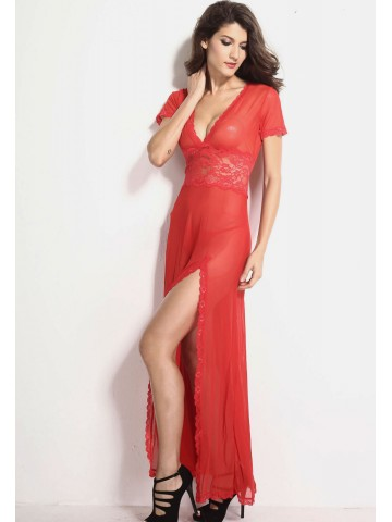 https://static1.cilory.com/92463-thickbox_default/red-mesh-and-lace-v-neck-lingerie-gown.jpg