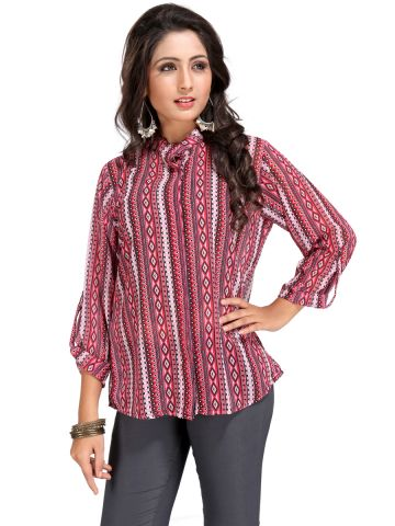 Victorian Clothing Full Sleeves Multicolored Top at cilory